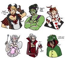 halloween ladies by bPAVLICA