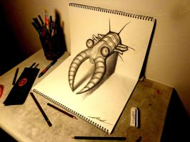 3D Drawing - Anomalocaris by NAGAIHIDEYUKI