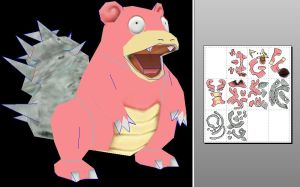 slowbro papercraft by javierini