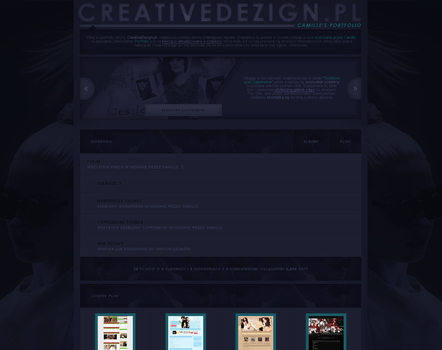 Coppermine Portfolio for CreativeDezign.pl by camilledezign