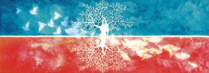 Red tree and Blue tree by matabi