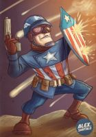 WWII Captain America by alexsantalo