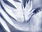 Feathered Ice Dragon by Kirsui