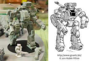 GRUNTZ Imperator mech by Mecha-Zone