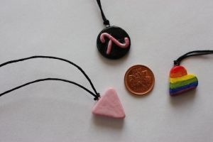 Gay Pride Pendants by thousandleaf0001