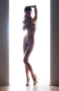 White Doorway Nude by goodeggproductions
