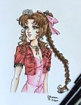 Final Fantasy VII-Aeris Gainsborough by ArtsyVana