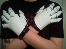 WIP Black wing Erza gloves by CrazyRevy
