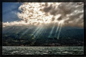 Sunrays over Malcesine by deaconfrost78