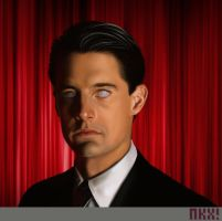 Cooper in black lodge From Twin Peaks by nockiman