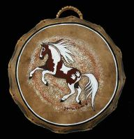 """""""Painted Pony"""" Drum - Paint by Foxfeather248"""