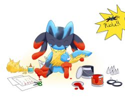 Pokemon - Riolu  (Feel like a Mega Lucario) by ZoruDawn