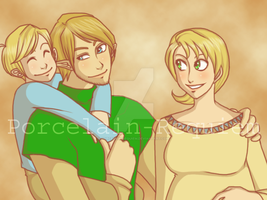 Link and Ilia Family by Porcelain-Requiem