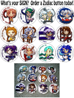 What's Your Sign Buttons by kuroitenshi13
