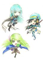 Chibis in Action by Modestfantasy