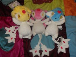 Uxie, Mesprit, and Azelf Plush