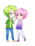 Comision Chibi Couple by xTears-and-Rainbows