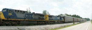 CSX 386 and 9006 by LDLAWRENCE