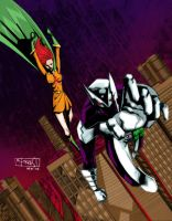 shadowhawk and editorgirl by mytymark