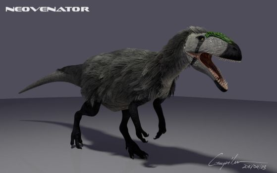 Neovenator in 3D - feathered version by c-compiler