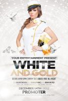 White and Gold Party   FREE Flyer by Valery-10