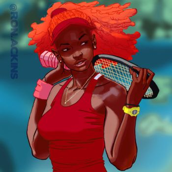 tennis by RonAckins