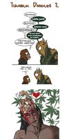 Skyrim - Tumblr Doodles 2 by Doku-Sama