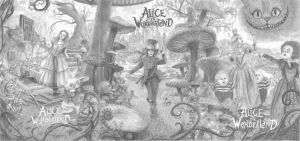 Alice in Wonderland by one-film-one-drawing