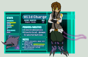 X-Men OC- Wild Charge by TheFallingpiano
