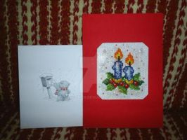 Cross Stitch Christmas Card by Enithien