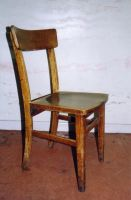 wooden chair by tunny