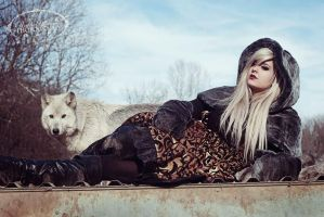 wolf and girl by KMKostumes