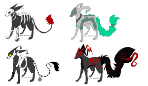 4 mix adoptables OPEN by Silhouett3s