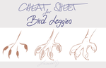 [Tutorial] Cheat Sheet: Bird Leggies by Lusomnia