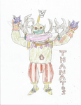 Thanatos with spiked balls by GrayComputer