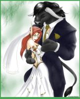 TaurBE wedding.. by TsukiKamiKat