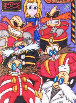 The Robotnik Family Reunion by AceOfSpeed94