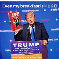 Donald Trump cereal - Trumpies Cereal by dhilipedeze