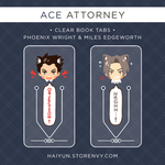 Ace Attorney: Clear Book Tabs by Haiyun