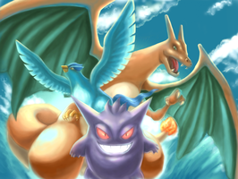 My top 3 Pokemon in first generation by airknightart