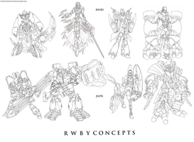 RWBY Concepts: The main 8 by dishwasher1910