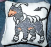 Houndoom Pillow by Ameko-Shadowsong