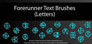 Brushes - Halo Forerunner Text 'Letters' by cfowler7