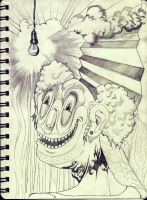 psycho clown by RusRed