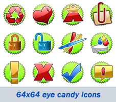 Glassy icons by theartr