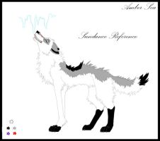 Fursona ref sheet. Sundance by AmberSea