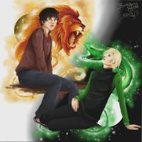 HP: The Lion and the Snake by blazing-eyes