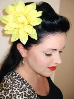 1940's style hair flower by rascalkosher