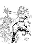 Supergirl Santa (2011) Inks by SteveAndrew