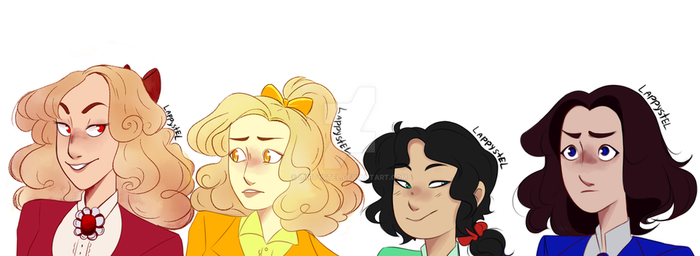 Heather, Heather, Heather and someone by Lappystel